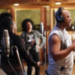 The Creole Choir of Cuba recording at Real World Studio's Wooden Room (photo by York Tillyer)